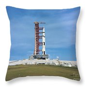 The Apollo Saturn 501 Launch Vehicle Throw Pillow