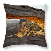 The Arch, Arches National Park, Moab Throw Pillow