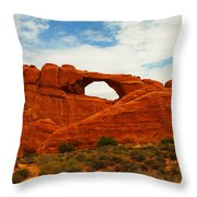 The Arches Of Utah Throw Pillow
