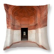 The Architecture And Doorways Of The Humayun Tomb In Delhi Throw Pillow