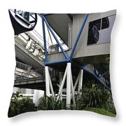 The Area Below The Capsules Of The Singapore Flyer Throw Pillow