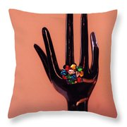 The Arm And Hand Throw Pillow