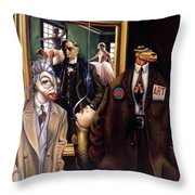 The Art Critic Throw Pillow