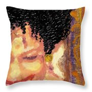 The Artist Who Found Her Smile Throw Pillow