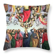 The Ascension Of Christ Throw Pillow by Pietro Perugino