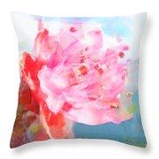 The Aura Of A Peach Blossom Throw Pillow