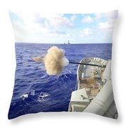 The Australian Navy Frigate Hmas Throw Pillow