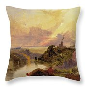 The Avon Gorge At Sunset  Throw Pillow