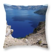 The Back Side Of Crater Lake  Throw Pillow