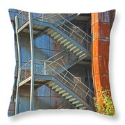 The Back Stairs Throw Pillow