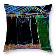 The Back Yard Throw Pillow