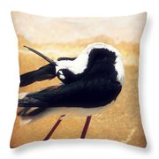 The Ballerina Bird Throw Pillow