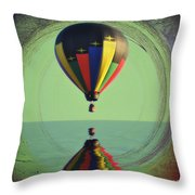 The Balloon And The Sea Throw Pillow