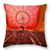 The Balloonist - Inside A Hot Air Balloon Throw Pillow