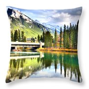 The Banff Bridge Throw Pillow