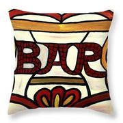 The Bar Throw Pillow