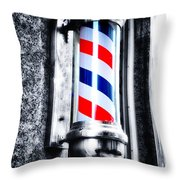 The Barber Pole Throw Pillow