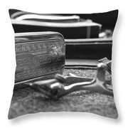 The Barber Shop 1 Bw Throw Pillow