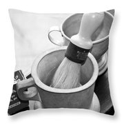 The Barber Shop 5 Bw Throw Pillow