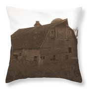 The Barn 3 B/w Throw Pillow