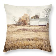 The Barn On The Hill Throw Pillow