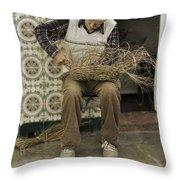 The Basket Maker Throw Pillow