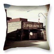 The Bath House In Old Tuscon Arizona Throw Pillow