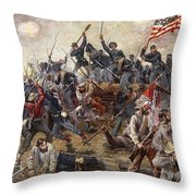 The Battle Of Spotsylvania Throw Pillow by Henry Alexander Ogden