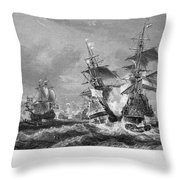 The Battle Of Texel, 1673 Throw Pillow
