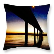 The Battlefield Of Night And Day Throw Pillow