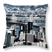 The Bay Bridge Throw Pillow