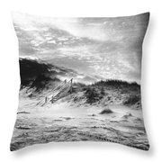 The Beach At Bridgehampton Throw Pillow