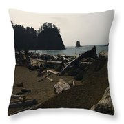 The Beach At Twilight Throw Pillow by Kym Backland