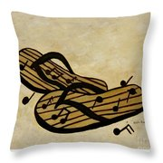 The Beach Is The Music Throw Pillow