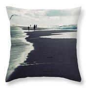 The Beach Throw Pillow by Joana Kruse