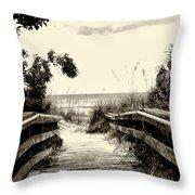 The Beach Path - Clearwater Beach Throw Pillow