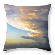 The Beach Walker Throw Pillow