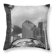 The Bean Chicago Illinois Throw Pillow