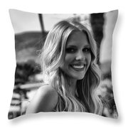 The Beautiful Blonde Throw Pillow