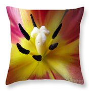 The Beauty From Inside Square Format Throw Pillow