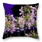 The Beauty Of Flowering Garlic Throw Pillow