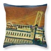 The Belle Of San Francisco Throw Pillow