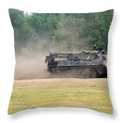 The Bergepanzer Used By The Belgian Army Throw Pillow by Luc De Jaeger