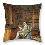 The Bibliophile Throw Pillow