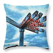 The Biggest Car Park In The World Throw Pillow