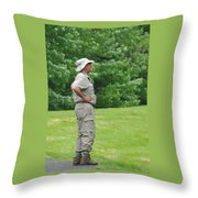 The Birdwatcher Throw Pillow