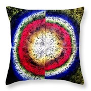 The Birth Of Circle Throw Pillow