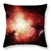 The Birth Of Numerous Stars Exposing Throw Pillow