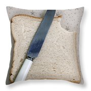 The Bite Throw Pillow by Joana Kruse