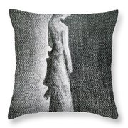 The Black Bow Throw Pillow
